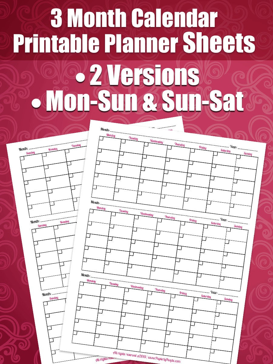 Business Calendar Kit Get All 3 Printable Planner by PaperlyPeople