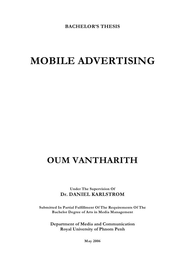 University Thesi Cover Page Title Idea For College Advertising Dissertation Topics