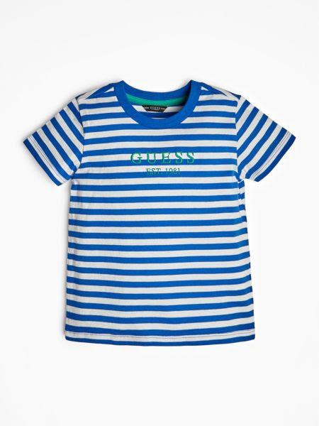 T-Shirt Logo Motif Rayé