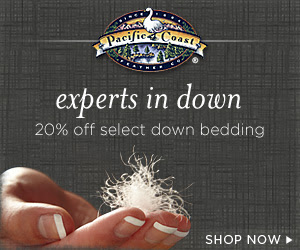 20% off Select Down Bedding at Pacific Coast