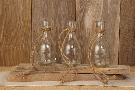 Hanging Glass Bottle Vase 6.75in