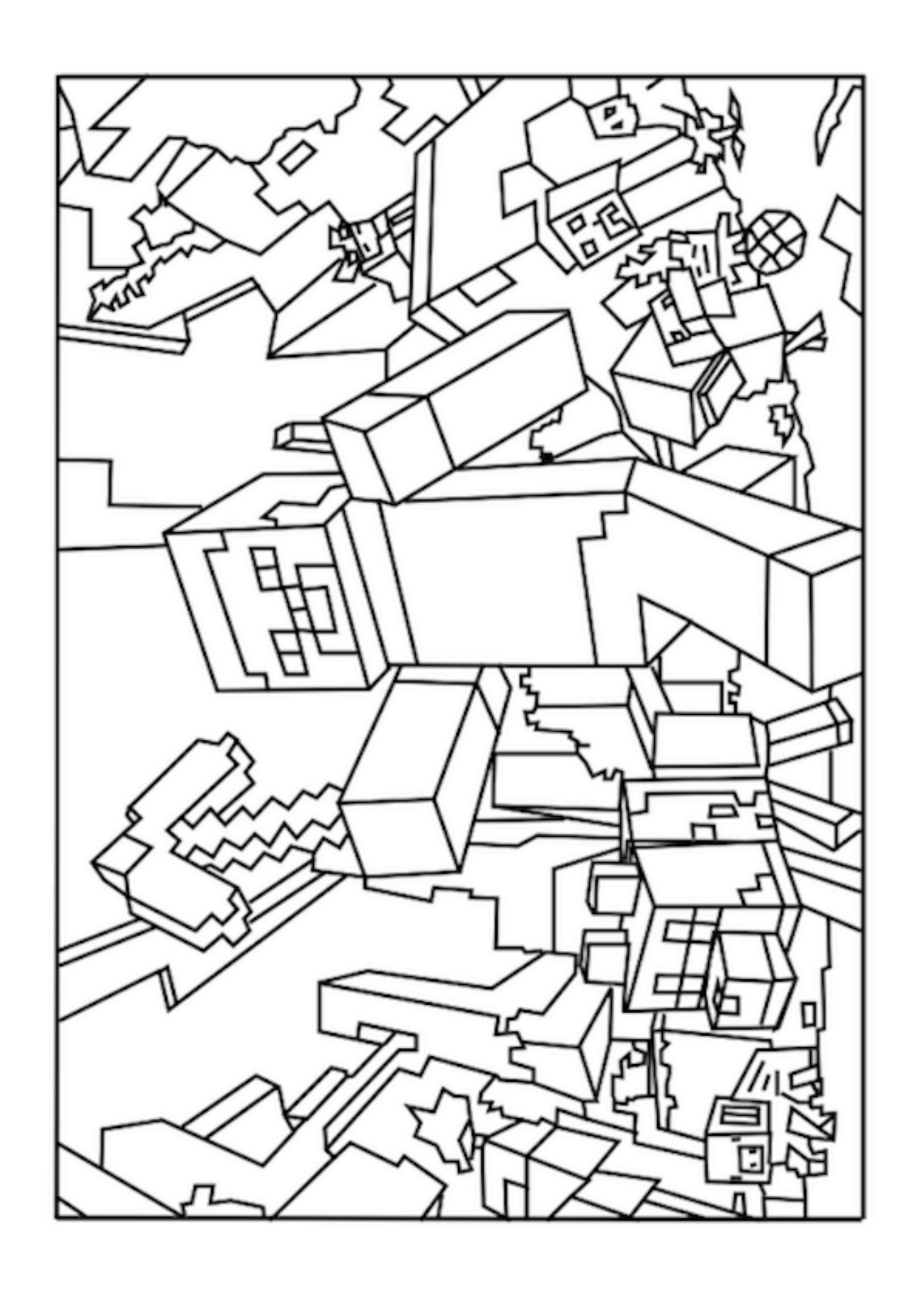Minecraft Zombie Coloring Pages at GetColorings.com | Free ...