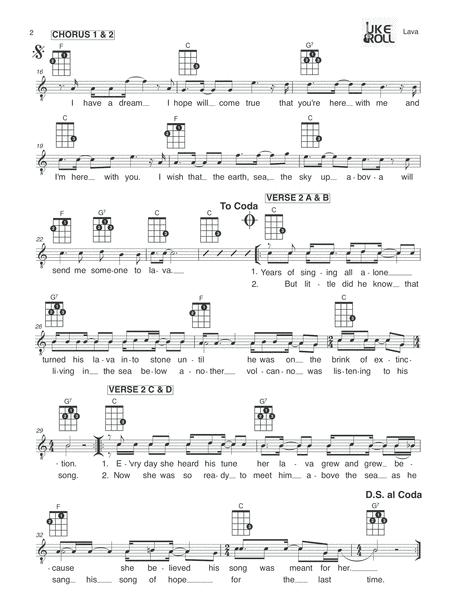 Lava From The Pixar Film Lava Ukulele Music Sheet Download Topmusicsheet Com