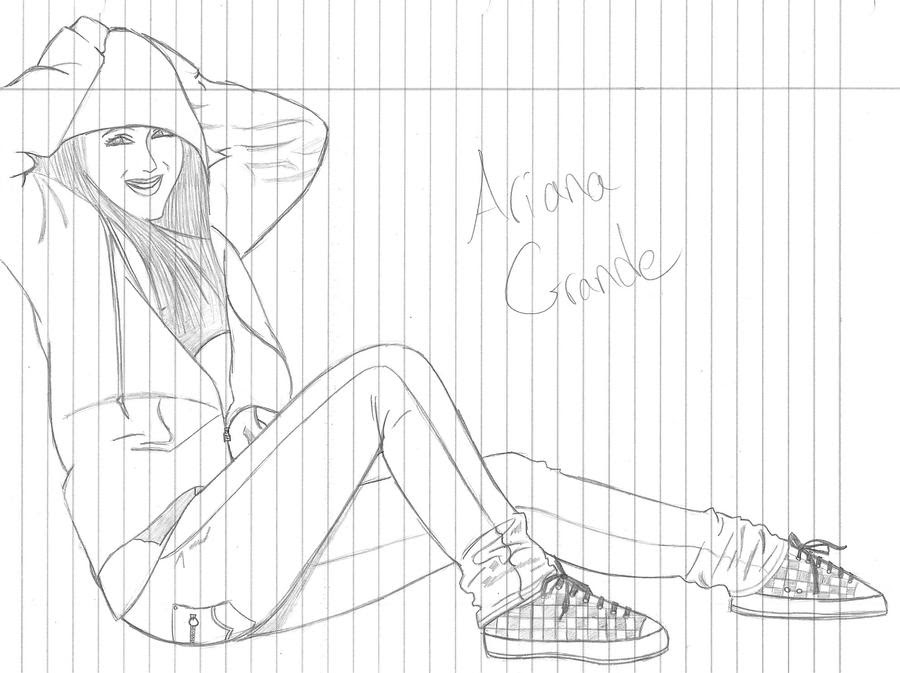 Ariana Grande  Free Coloring Pages