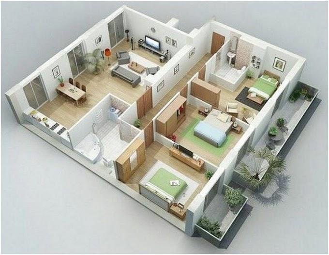 Desain Rumah Minimalis Sederhana 3 Kamar Tidur