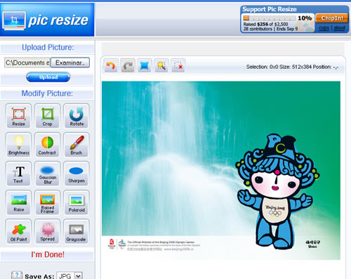 pic resize cambiar tamano foto online