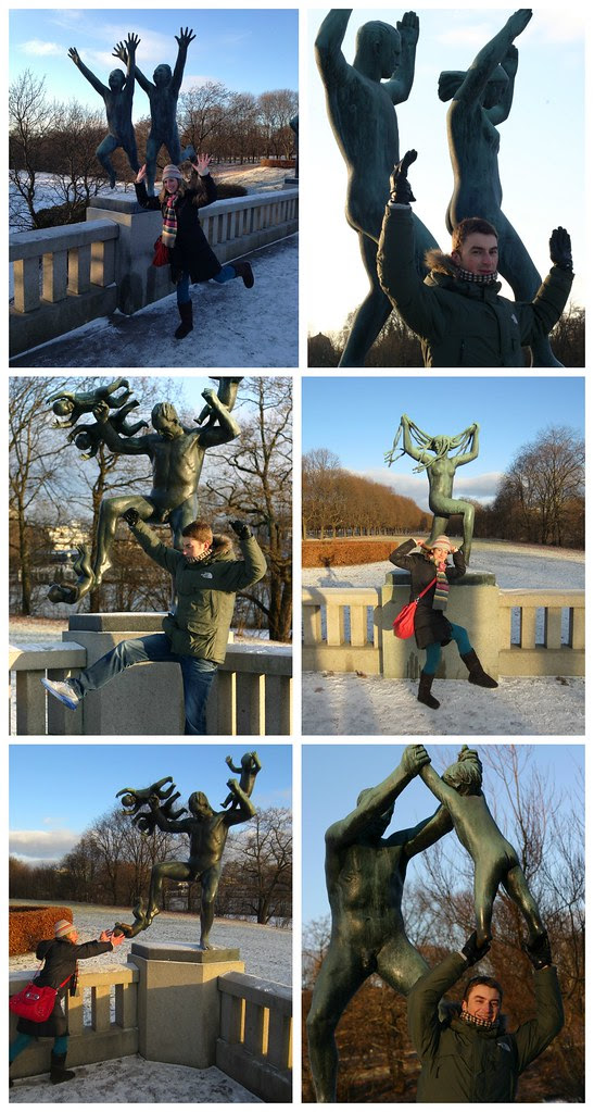 Vigeland shenanigans collage