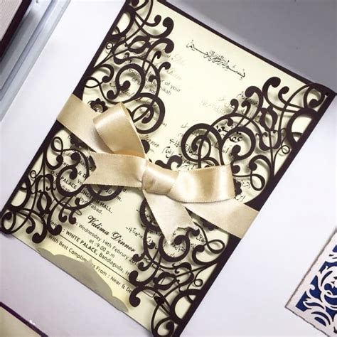 Here's All the Detailing in Muslim Wedding Invitation