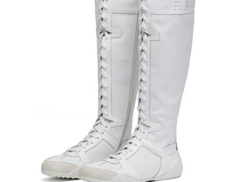 a8e5db9fb76 Beste Kopen Luxe Merk Sneakers Kruis Gebonden Over Kniehoge Motorlaarzen  Wit Schoen Lederen Lange Vrouwen Laarzen Winter Botas Mujer Goedkoop | th-  ...