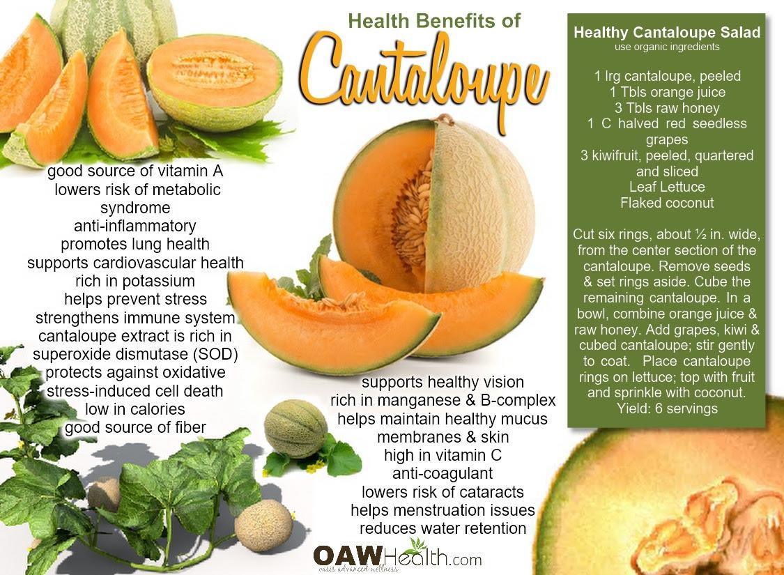 Health Benefits of Cantaloupe - OAWHealth