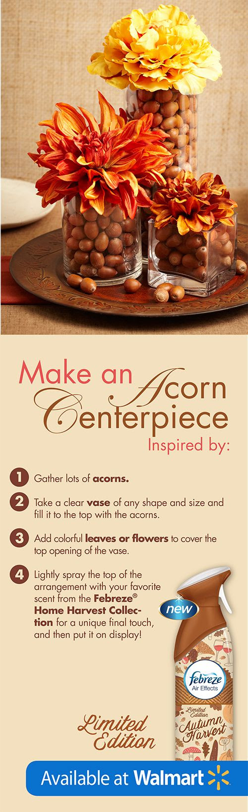 The perfect fall centerpiece in just 4 easy steps! #FebrezeFall