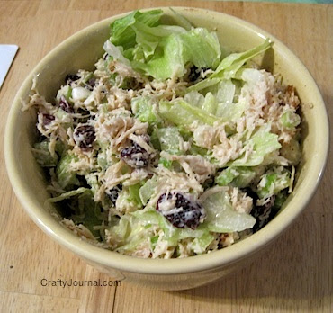 Crafty Journal - Kelli's Chicken Salad Recipe - Gluten Free