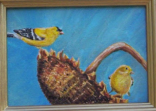 gold finch painting