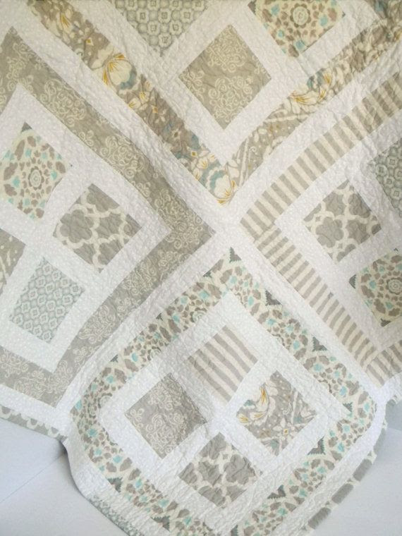 neutral quilts | Quilt Neutral Colors by SWDesignsBaby on Etsy | My Style