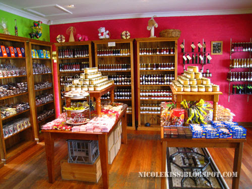 chocolate shop next to smelly cheese shop