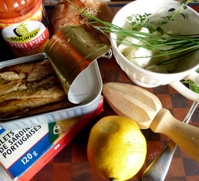 The Makings Of Sardine Rillettes