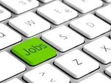 Clavier avec une touche verte nommée «jobs»