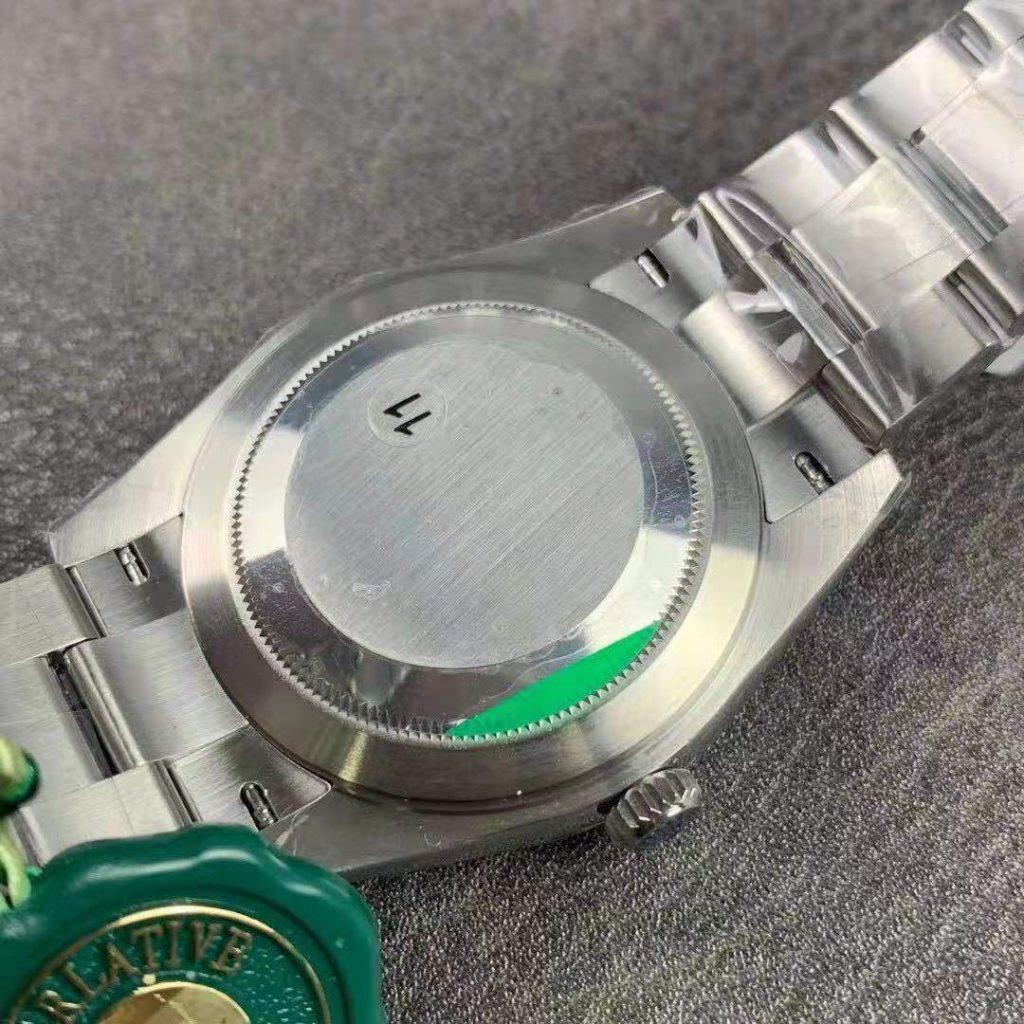 Rolex Datejust Silver Case Back