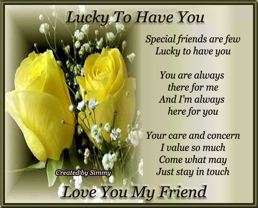 Love You My Friend Free Special Friends Ecards Greeting Cards