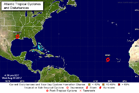 Tormenta tropical Irma. Foto: NHC/ NOAA.