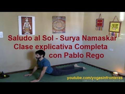 Saludo al Sol (Surya Namaskar) Clase explicativa completa
