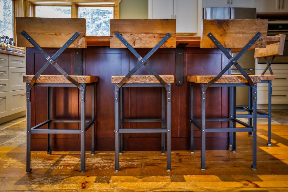 Custom Furniture in Muskoka | Barn Board Bar Stools ...