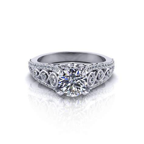 Elegant Diamond Engagement Ring   Jewelry Designs