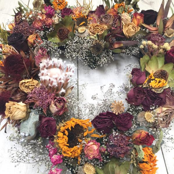 Love Dried Wreath Broadfield Flowers Florist Lincoln