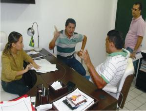 Valéria, Rocha Filho e Manin Leal falam do encontro de amanhã.