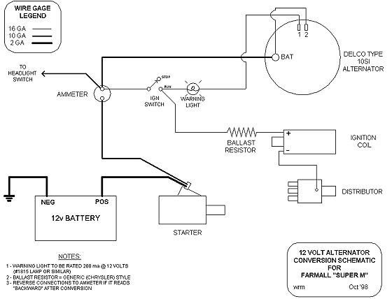 Wiring Diagram  4 6 Volt Positive Ground Wiring Diagram