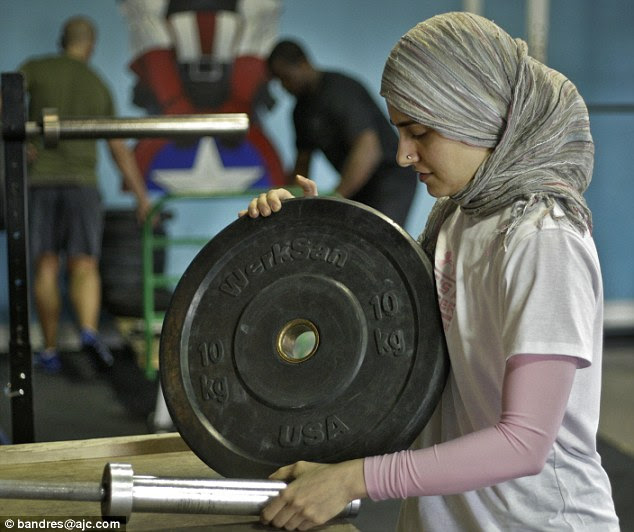 Weight change: Kulsoom Abdullah said that she would hate to think that 'just because you dress a certain way, you can't participate in sports' and hopes the rules are changed so she can compete