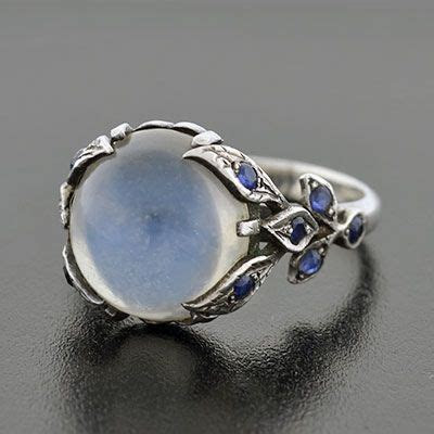 A Brandt and Son   Vintage Sterling Moonstone Cabochon