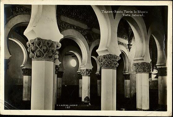 Sinagoga de Santa María la Blanca a comienzos del siglo XX. Foto Alsina