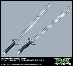 TMNT : Back to The Sewer ..LEO 's Katanas .. final [[ Courtesy 4kids TMNT Blog ]]