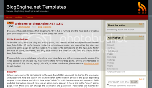 BlogEngine.Net template- XtremeBlogg