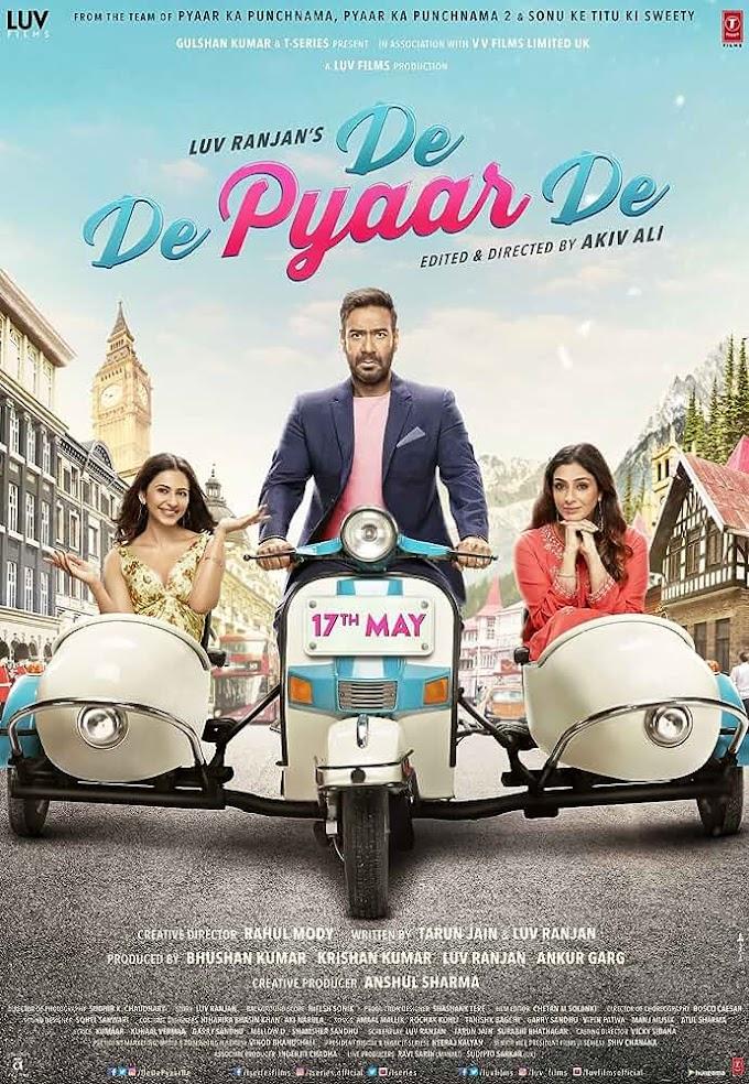 De De Pyaar De (2019) Hindi 1CD PreDvDRip x264 AAC [900MB] Download