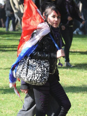 Chile protesto 4 (Foto: Claudio Santana / AFP Photo)