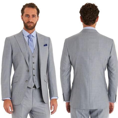 italian blue groom wear suits jacketpantstievest