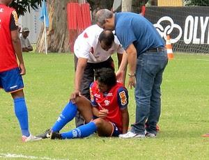 digão flamengo treino atendimento médico (Foto: Richard Souza / Globoesporte.com)