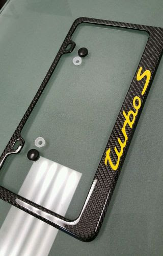 Sell Real Handmade Carbon Fiber License Plate Frame Porsche
