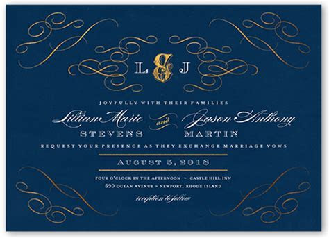 Enamored Passport 5x7 Wedding Invitation   Shutterfly