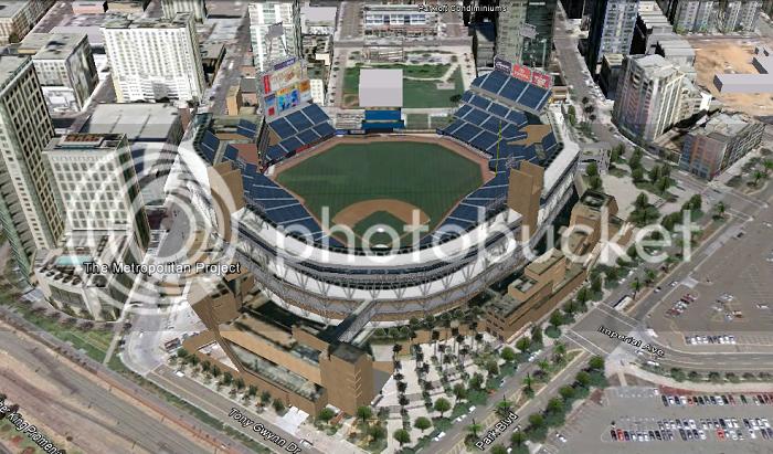 Petco Park (San Diego, CA); 3D model by jjasper123
