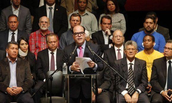 La dirigencia opositora reunida. Foto: Misión Verdad.