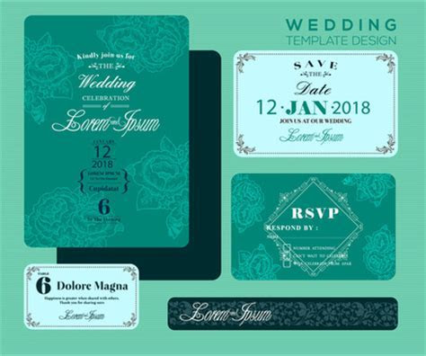 Editable wedding invitations free vector download (3,705
