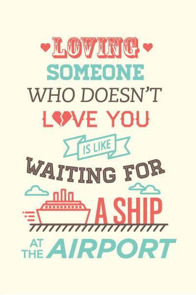 Ship At The Airport Love Quotes Picture Saying Wisdom Of Life