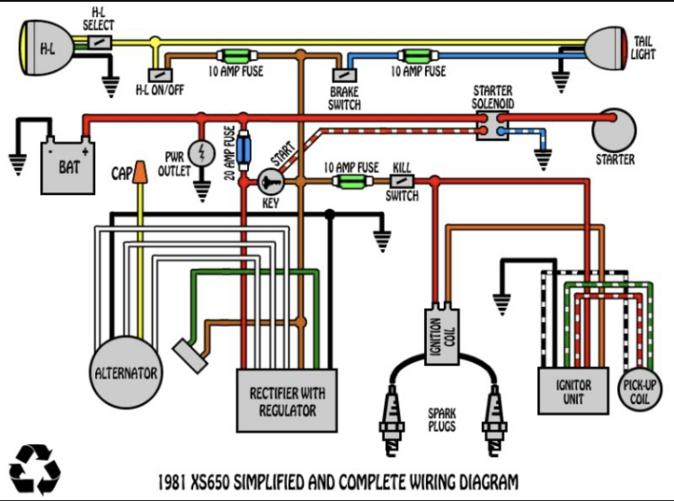 1971 Yamaha Wiring Diagram