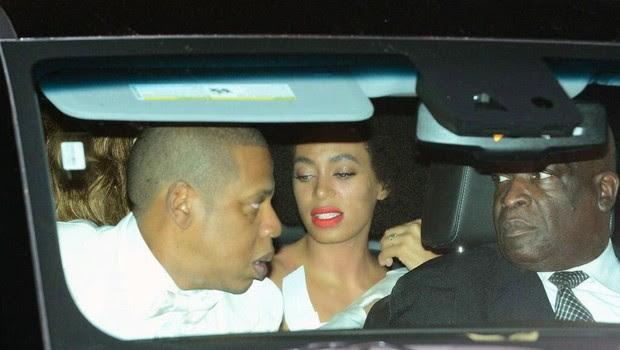 Solange e o cunhado Jay-Z  (Foto: Reprodução)