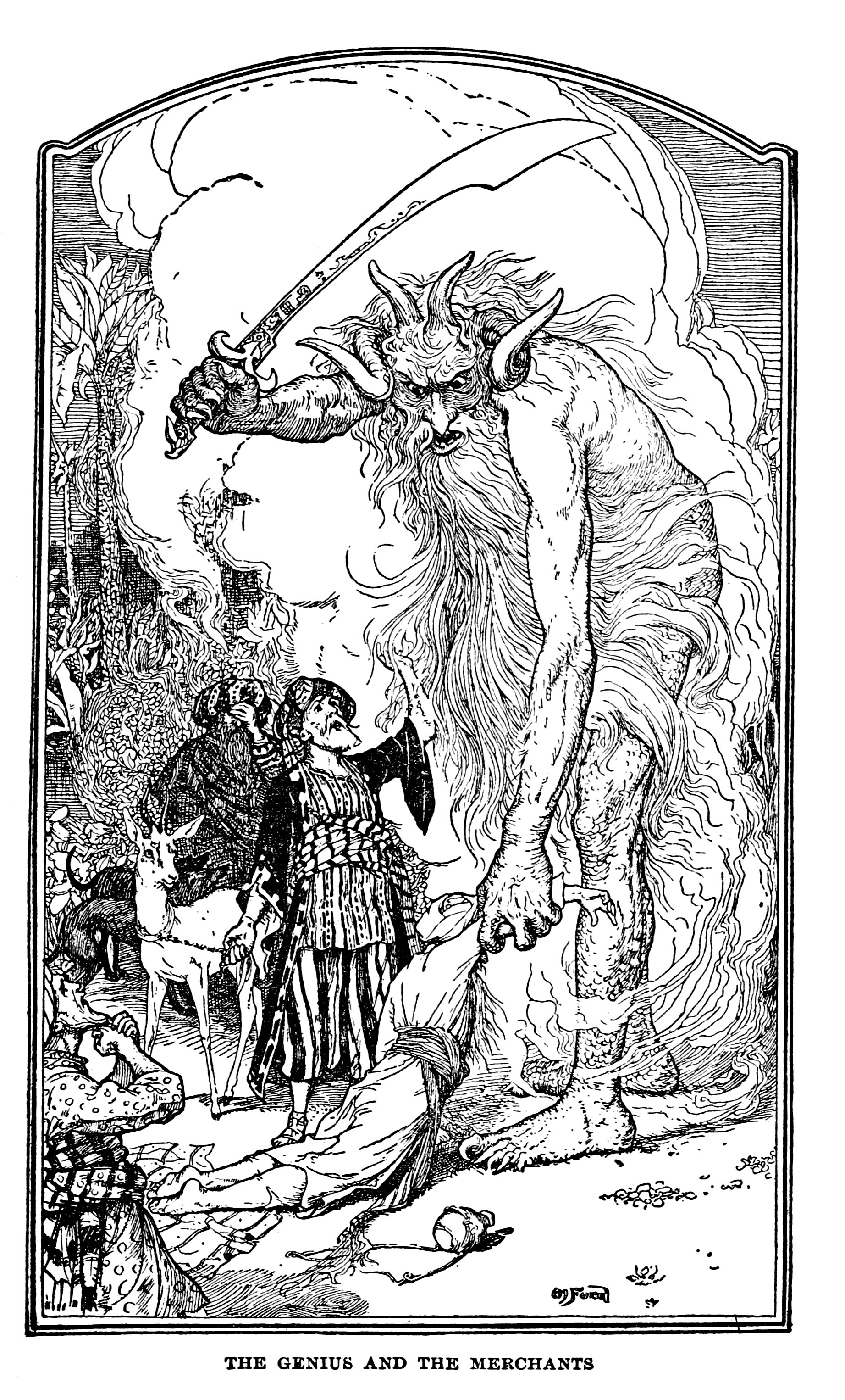 Henry Justice Ford - The Arabian nights entertainments selected and edited by Andrew Lang, 1898 (illustration 7)