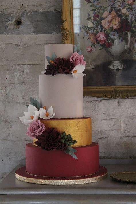 10 Perfect Marsala Wedding Cakes   crazyforus