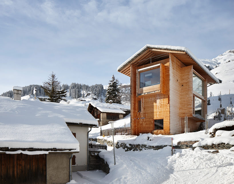 peter zumthor's vacation homes in leis, vals